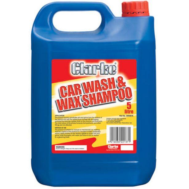 Clarke 5L Wash & Wax Car Shampoo offer at £8.39