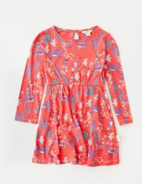 Pure Cotton Forest Print Dress (3-10 Yrs) offer at £22
