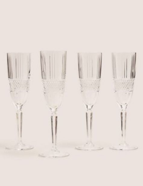 Set of 4 Adeline Champagne Flutes offer at £25