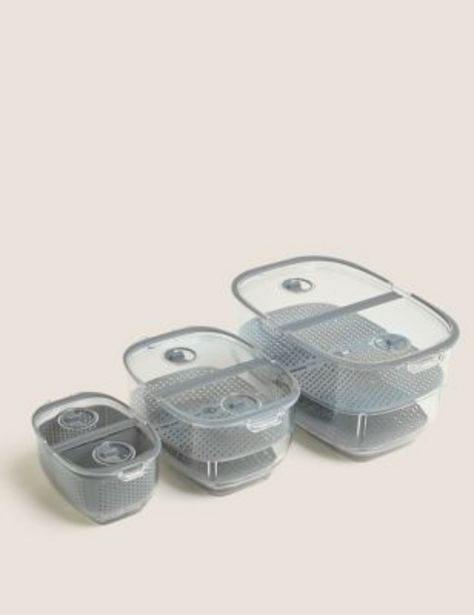 Set of 3 Nesting Fridge Storage Containers offer at £29.5