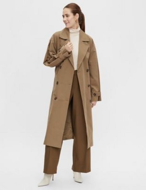 Cotton Double Breasted Trench Coat offer at £33