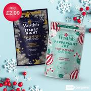 Two festive scents in stores Starry Night and Peppermint Joy only for £2.99 offer at
